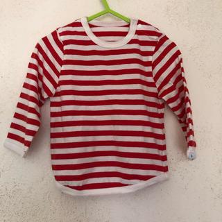 コドモビームス(こどもビームス)のこどもビームス XS(80-90)ボーダー ロンT トップス 赤白(Tシャツ/カットソー)