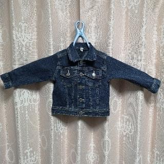 ニシマツヤ(西松屋)の❬美品❭ デニム上着 90 男児 女児(ジャケット/上着)