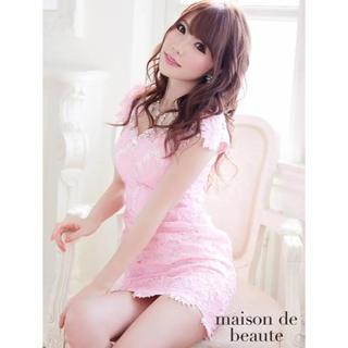 エミリアウィズ(EmiriaWiz)のジャスミン ローブドフルール レース ピンク 花柄 ドレス 美品 Mサイズ(ナイトドレス)