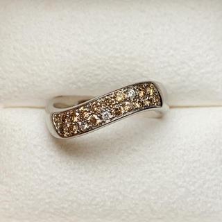 ポーラ(POLA)の☆セール POLA 二重 ダイヤモンド プラチナ リング(リング(指輪))