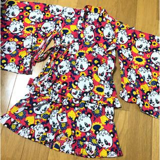 グラグラ(GrandGround)のグラグラ♡甚平 浴衣 110センチ ピンク 総柄(甚平/浴衣)