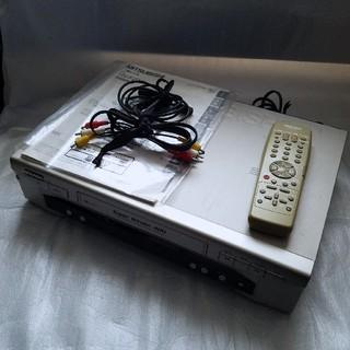 ミツビシ(三菱)のMITSUBISHI HV-FZ15 ビデオデッキ VHS シルバー(その他)