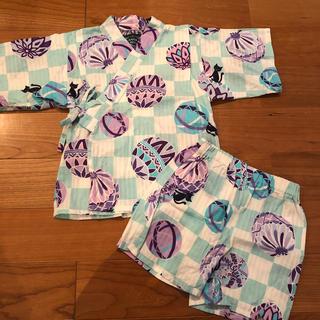 アナスイミニ(ANNA SUI mini)のアナスイ ミニ💕 100センチ 甚兵衛セット💗浴衣 (甚平/浴衣)