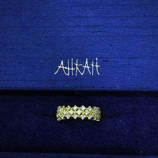 アーカー(AHKAH)のレア AHKAH フルエタニティピンキーリング 3号 アーカー(リング(指輪))
