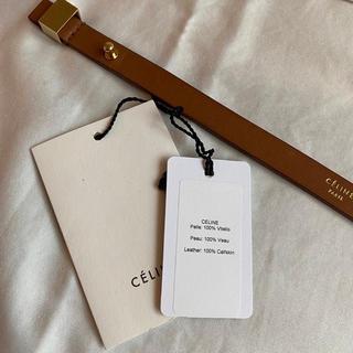 セリーヌ(celine)のレア Celine セリーヌ レザー ブレスレット ブラウン 保護袋タグ付き(ブレスレット/バングル)