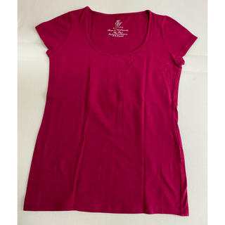 エクリュフィル(ecruefil)のエクリュフィル ボルドーカラーTシャツ(Tシャツ(半袖/袖なし))