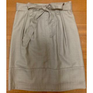 アンタイトル(UNTITLED)のuntitled スカート ブラウン 美品(ひざ丈スカート)