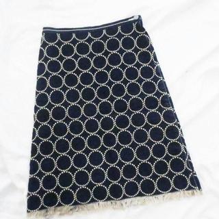 ミナペルホネン(mina perhonen)のミナペルホネン タンバリン デニム スカート(ひざ丈スカート)