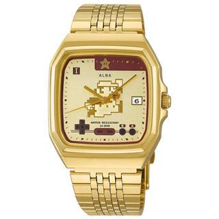 アルバ(ALBA)の【新品未使用】セイコーアルバWEB限定モデル スーパーマリオ 無敵(腕時計(アナログ))