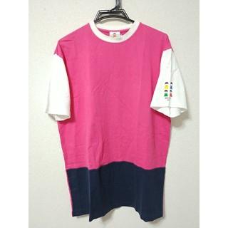 パーリーゲイツ(PEARLY GATES)のピッコーネ 半袖 トップス Tシャツ カットソー ロゴ プリント バイカラー(Tシャツ(半袖/袖なし))
