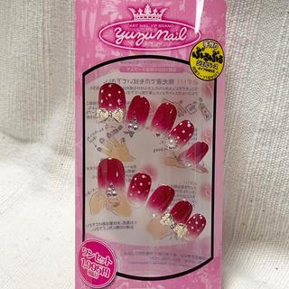 ジェルネイル ネイルチップ 付け爪 ピンク ドット リボン(つけ爪/ネイルチップ)