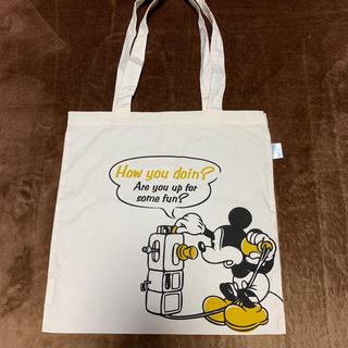 ディズニー(Disney)のコットントートバッグ ミッキー(エコバッグ)