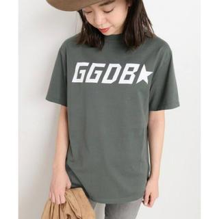 ドゥーズィエムクラス(DEUXIEME CLASSE)のDeuxieme Classe  GOLDEN GOOSE ロゴTシャツ カーキ(Tシャツ(半袖/袖なし))