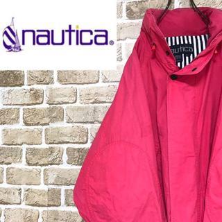 ノーティカ(NAUTICA)の【ノーティカ】エルボーパッチコットンジャケット ブルゾン ビッグサイズ 赤(ブルゾン)