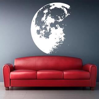 ムーン ウォールステッカー 宇宙 銀河 クラウド 北欧 インテリア 壁 月(ウェルカムボード)