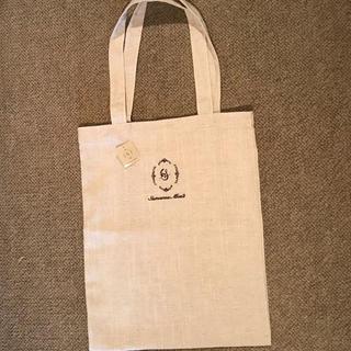 サマンサモスモス(SM2)のサマンサモスモス 綿麻ロゴ刺繍トートバッグ 中(トートバッグ)