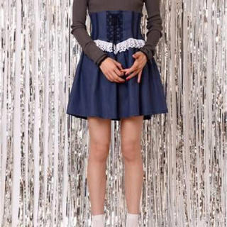 ケイティー(Katie)のKatie バスク スカート デニム コルセット スカート レースアップ 値下げ(ミニスカート)