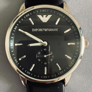 日本未入荷モデル アルマーニ ブラックフェイス腕時計 超美品