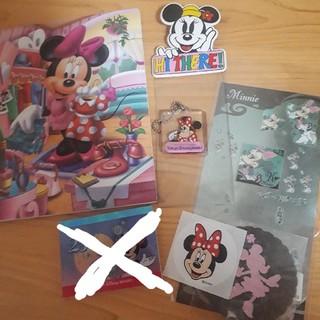 ディズニー(Disney)のミニーマウス レターセット チケット入れ シール キーホルダー(キャラクターグッズ)