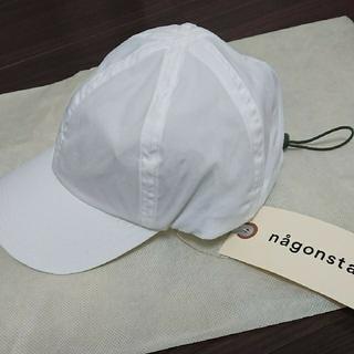 エンフォルド(ENFOLD)の今季人気完売 ナゴンスタンス キャップ ホワイト nagonstans(キャップ)