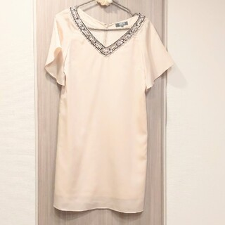 ルスーク(Le souk)のルスーク♡クリーニング済 淡いゴールドのドレス(ミディアムドレス)