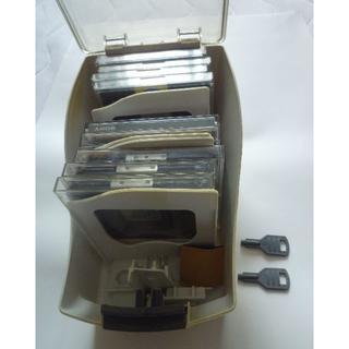 マクセル(maxell)のMOディスク中古品⭐各種合計9枚&KOKUYO製ケース付&鍵付き(その他)