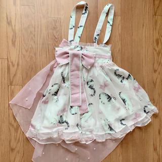 トゥアリス(To Alice)のTo alice 猫柄 ピンク スカート(ひざ丈スカート)