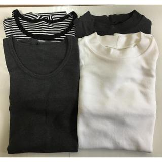ムジルシリョウヒン(MUJI (無印良品))の無印良品ウール綿シリーズ長袖四枚セット(アンダーシャツ/防寒インナー)