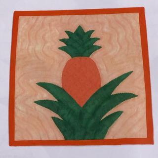 ベルメゾン(ベルメゾン)のハワイアンシャドーキルトキルト パイナップル(生地/糸)