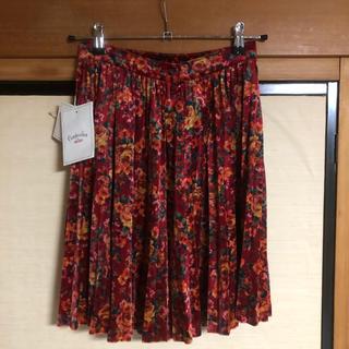 ケンゾー(KENZO)の【新品、タグ付き】KENZO プリーツスカート (ひざ丈スカート)