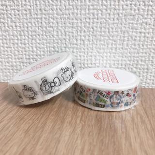 ASOKO⭐︎ドラえもん&ハローキティコラボ マスキングテープ2種セット(テープ/マスキングテープ)