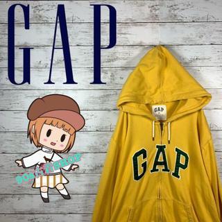 GAP - 【大人気】ギャップ パーカー デカロゴ ワッペンロゴ ビックサイズオーバーサイズ