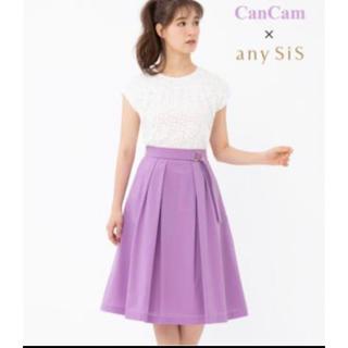 エニィスィス(anySiS)の美品!any SIS  レーストップス&薄紫のスカートのセット(セット/コーデ)