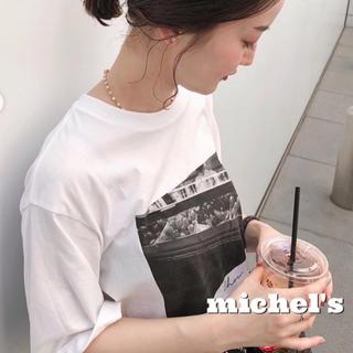 イエナ(IENA)の【新品】IENA paris photo Tシャツ(Tシャツ/カットソー(半袖/袖なし))