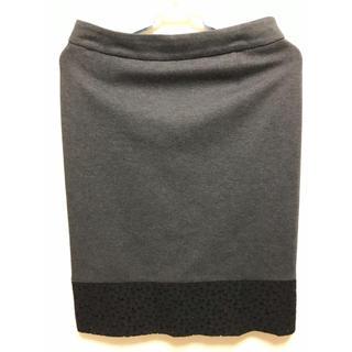 ノーブル(Noble)のNoble ノーブル グレータイトスカート 40(ひざ丈スカート)