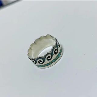 ハンドメイドリング シルバーリング ターコイズリング(リング(指輪))