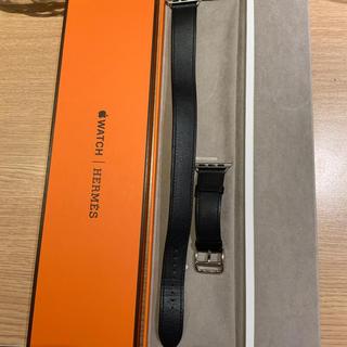 エルメス(Hermes)の(正規品) Apple Watch ドゥブルトゥール エルメス インディゴ(レザーベルト)