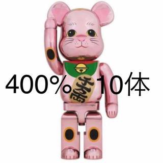 メディコムトイ(MEDICOM TOY)のBE@RBRICK 招き猫 桃金メッキ 400% ベアブリック  10体(その他)