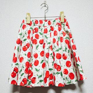 ウーム(WOmB)のウーム 個性的 チェリー スカート(ひざ丈スカート)