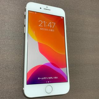 アイフォーン(iPhone)のジャンク品 iPhone8 シルバー64gb SIMロック解除済(SIMフリー)(スマートフォン本体)