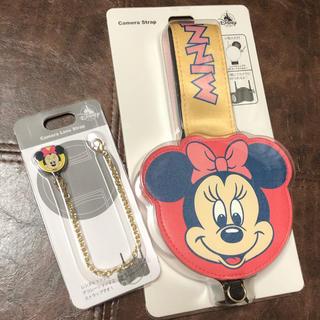 ディズニー(Disney)の《値下げ》ミニー カメラストラップ・レンズストラップ(ネックストラップ)