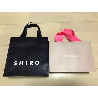 シロ(shiro)のルナソル LUNASOL SHIRO シロ 紙袋 ショップ袋 ショッパー(ショップ袋)