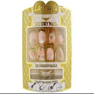 ラ・マジィ LP-91 和柄アートデザインネイルチップ 粘着剤両面テープ付き(つけ爪/ネイルチップ)