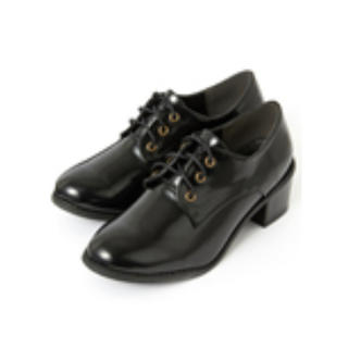 グレイル(GRL)の乃木坂46 齋藤飛鳥 太ヒールレースアップシューズ(ローファー/革靴)