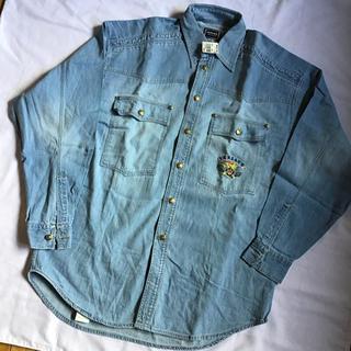 ヴェルサーチ(VERSACE)のヴェルサーチ デニムシャツ メデューサメタルボタン 未使用品(シャツ)