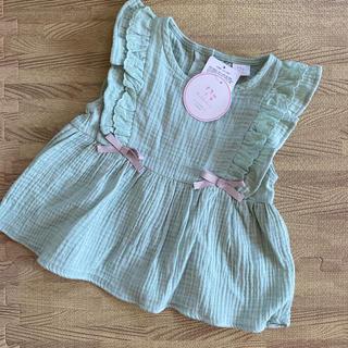プティマイン(petit main)のフリルリボンチュニック 110(Tシャツ/カットソー)