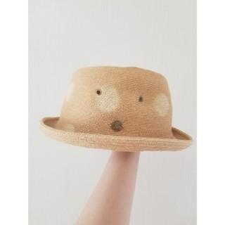 ビームスボーイ(BEAMS BOY)のBEAMSBOY(ビームスボーイ)×ケーブルアミ 水玉模様麦わら帽子(麦わら帽子/ストローハット)