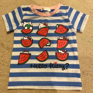 キティ Tシャツ スイカ 80(Tシャツ)