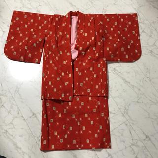 アンサンブル着物女の子 アンサンブル着物7から8歳用(和服/着物)