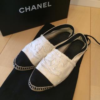 シャネル(CHANEL)のCHANEL エスパドリーユ 使用感有り(ローファー/革靴)